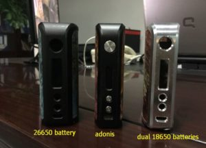 new sample for 26650 and dual 18650 batteries