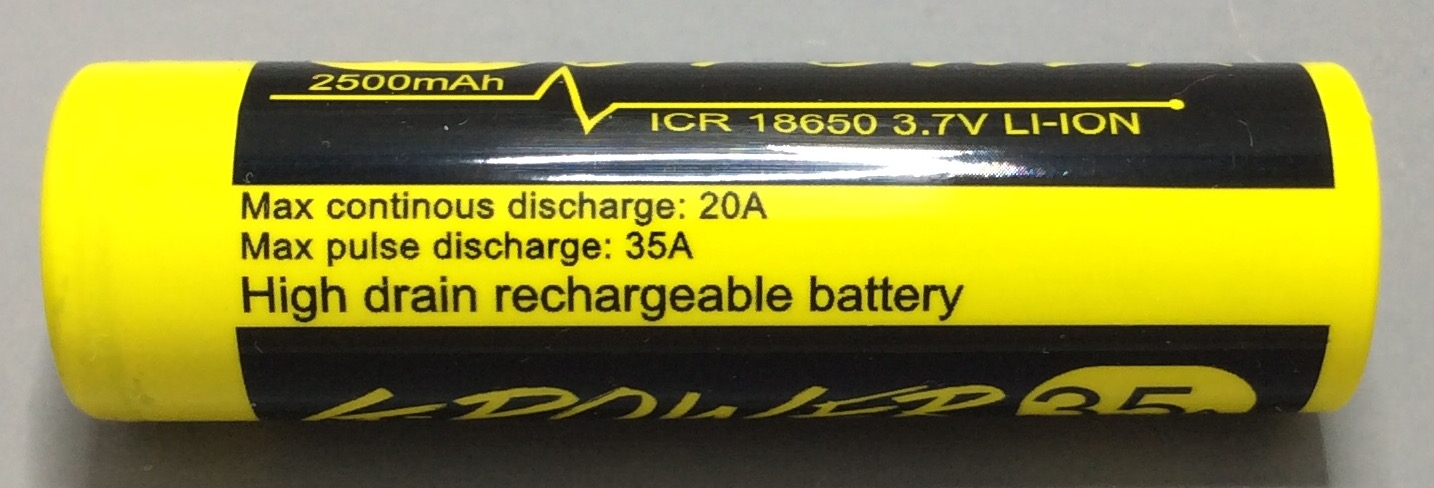 A BATTERY MOOCH POST: Gpower Yellow/Black 20A 2500mAh 18650 Bench Test Results…accurately rated, poor performing