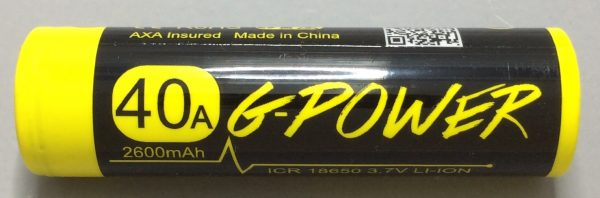 A BATTERY MOOCH POST: Gpower Yellow/Black 25A 2600mAh 18650 Bench Test Results…a poor performing 19A 2500mAh battery