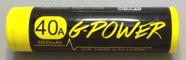 A BATTERY MOOCH POST: Gpower Yellow/Black 20A 3000mAh 18650 Bench Test Results…a poor performing 17A 2800mAh battery